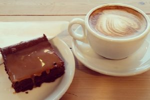 ...that is, unless you're in the mood for a creamy cappuccino and home-made brownie!